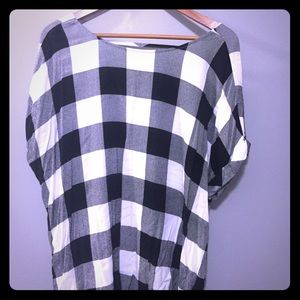 Black and White Buffalo Check top
